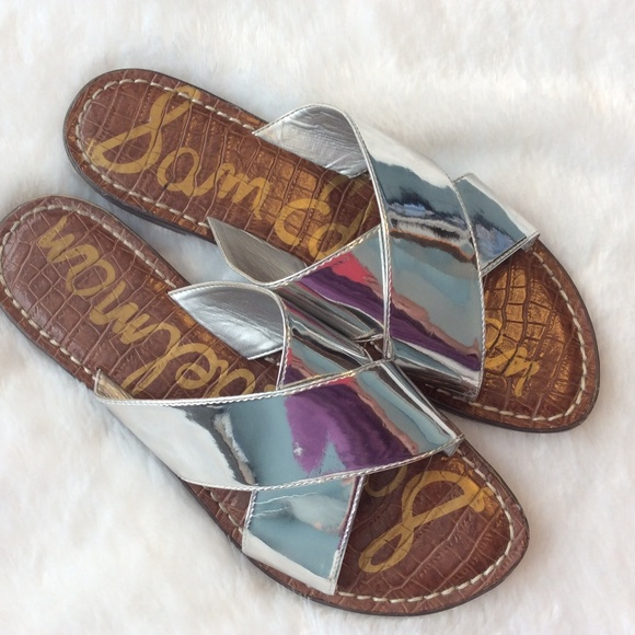 b66a8fddcab8 Sam Edelman Sandals Shoes 8.5 M Flats Mirror Kora.  M 5b46960d6a0bb72f6894b376